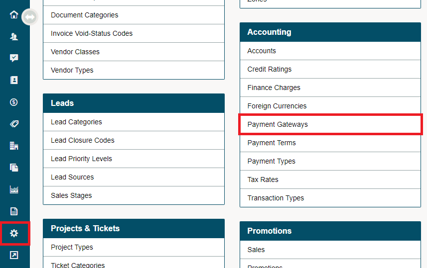 Payment Gateway – Global Office Software